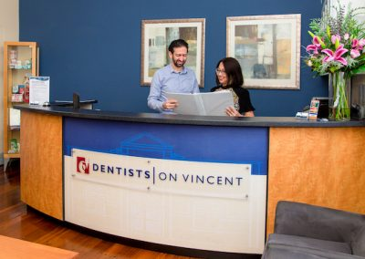 Dentists on Vincent Dentist Leederville Principal Dentist Ian with Michelle Practice Manager