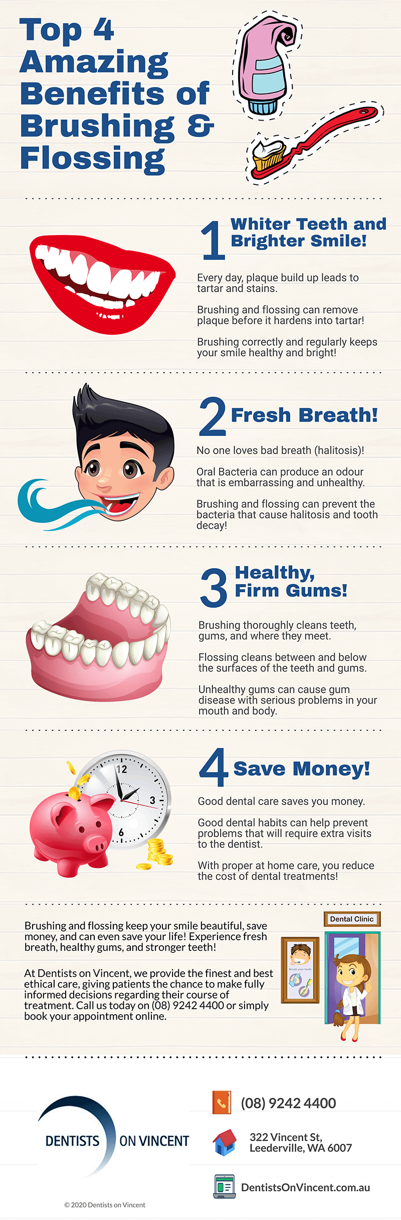 leederville dentist tips top 4 amazing benefits of brushing and flossing